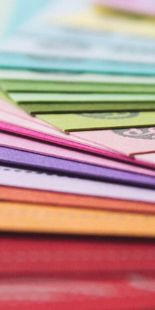 Podłoża, papier do druku wizytówek